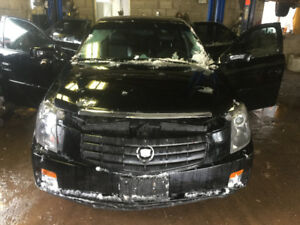 BLACK 2007 CADILLAC  CTS 2.8L RWD FOR PARTS