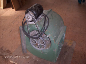 Large Exhaust fan and electric motor