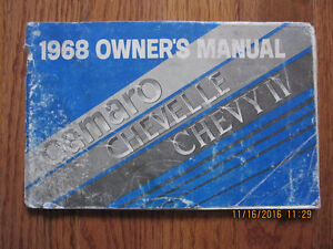 1968 Camaro, Chevelle and Chevy II Owners manual Sarnia Sarnia Area image 1