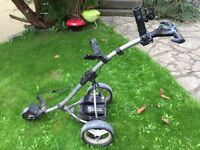 Motocaddy s3 trolley with 18 hole lithium battery and charger (optional extra)