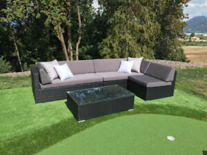 PATIO FURNITURE WICKER SECTIONALS