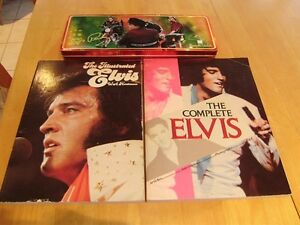 ELVIS PRESLEY  TINS AND BOOKS
