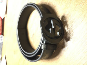 Black Mens GG Gucci Belt