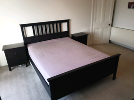 IKEA King Size Bed and Bedside Furniture