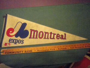 Vintage MONTREAL expos  Flag Banner