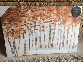 BNIP woodland Foil Canvas Picture
