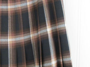 Vintage Wool Tartan Pleated Skirt Kilt