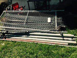 Chain link dog kennel 8x16 x 8'tall