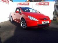 2002 51 PEUGEOT 307 2.0 HDi 90 RAPIER 3 DOOR.BRIGHT RED.FULL SH.FULL MOT.PX POSS