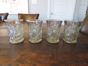 Cambridge Clear Glass Thistle Tumbler set x4