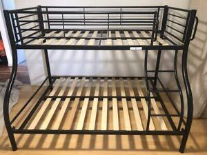 Double, single bunk beds