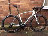 Specialized roubaix, carbon road bike, carbon wheelset, 54cm