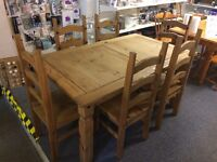 Mexican corona solid wood dining table