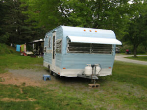 A very  classic good condition camper trailer