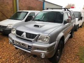 2006 Mitsubishi L200 2.5TD Crewcab Pick-Up COMPLETE WITH M.O.T AND WARRANTY