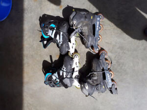 2 sets of roller blades (barely used) size 12 mens