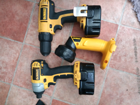 DeWalt cordless drill and impact screwdriver