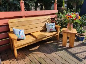Selection of handmade garden furniture