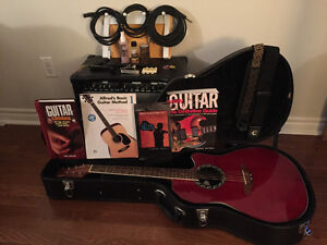 Ovation Electric/Acoustic Guitar + Extras!