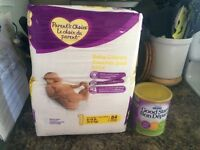 Pack of Size 1 Parents Choice Diapers and Sample of Formula