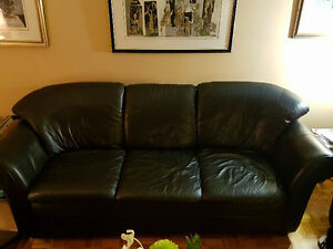 Leather Couch Set / Ensemble de Divan en Cuir