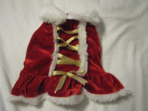 Dog Ms.Clause dress