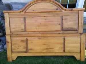 Solid Pine Gorgeous Queen headboard and footboard