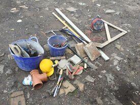 Various Bricklayer tools