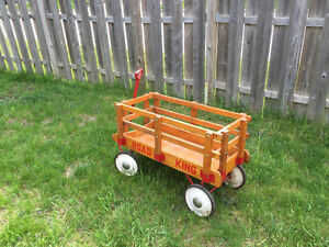 """Vintage """"Road King"""" wooden wagon. Excellent condition."""