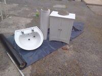 Wash basin sink bathroom unit