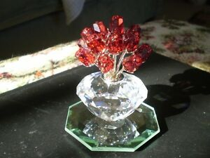 "Swarovski Crystal Figurine- "" The Vase of Roses "" Kitchener / Waterloo Kitchener Area image 1"