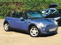 2004 Mini Mini 1.6 One Convertible Blue only 85,994 Miles Warranteed SUPERB!!!!!