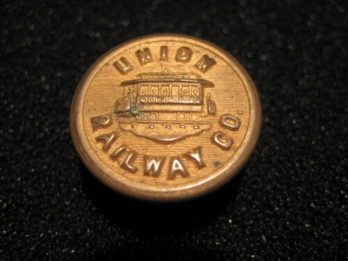 UNION RAILWAY CO. OF NEW YORK CITY  LARGE UNIFORM BUTTON  PRE-1898  3RD AVENUE