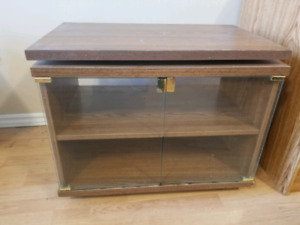 Entertainment Stand with Lazy Susan Top