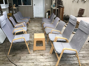 Eleven Ikea Lounger Chairs