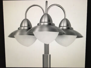 Eglo Stainless Steel Lamp Posts- New, unused, still in boxes