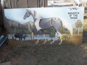 Huge Horse Painting, Four Feet By Eight Feet.