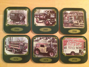 Coca-Cola Complete Coaster Set-Vintage Vehicles from 1900 onward