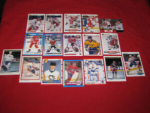 46 different hockey rookie cards, mostly from 1990s