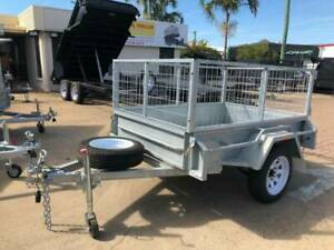 6x4 BOX TRAILER | 2FT CAGE | FULL CHECKERPLATE | GALVANISED Mackay Mackay City Preview