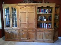 Solid Pine Book Cases/Curio Cabinets