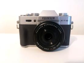 Fujifilm XT-10 camera with lenses