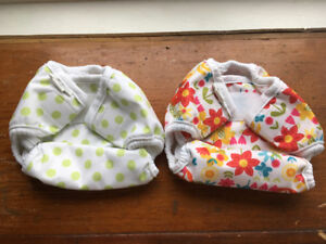 Bummis Organic Cloth Diapers: 2 covers & 6 prefolds