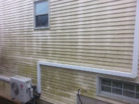 Dirty Eaves Gutters Siding & Decks WE POWERWASH CLEAN NOW