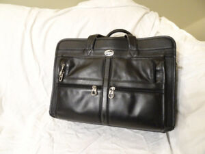 American Tourister Leather Laptop Briefcase
