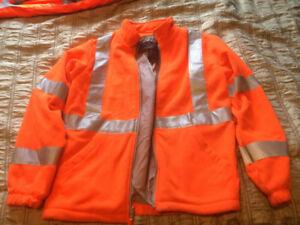 High visibility men's fleece jacket brand new