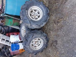 ATV aluminum rims & Mudzillas tires