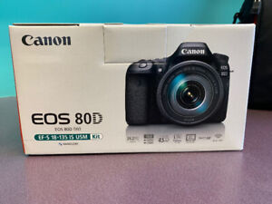 Canon EOS 80D camera with lens kit