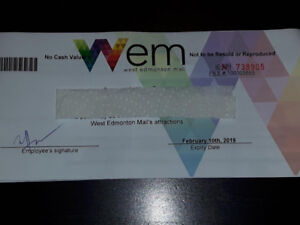 West Edmonton Mall Waterpark or Galaxy Land Day Pass