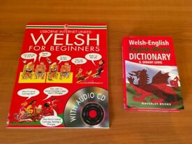 Learn WELSH for beginners book with CD & English to Welsh dictionary